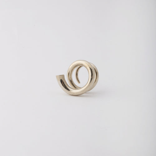 Wrapped-around my finger ring - White Bronze