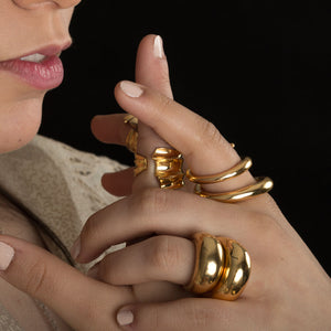 Wrapped-around my finger ring - Gold Plate Bronze