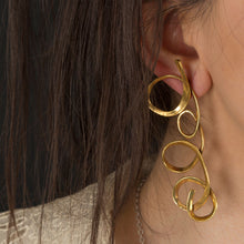 Loops earrings - Gold Plate Bronze