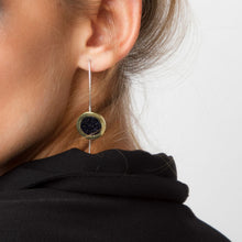 Stone Seal earrings - Bronze with Sterling Silver