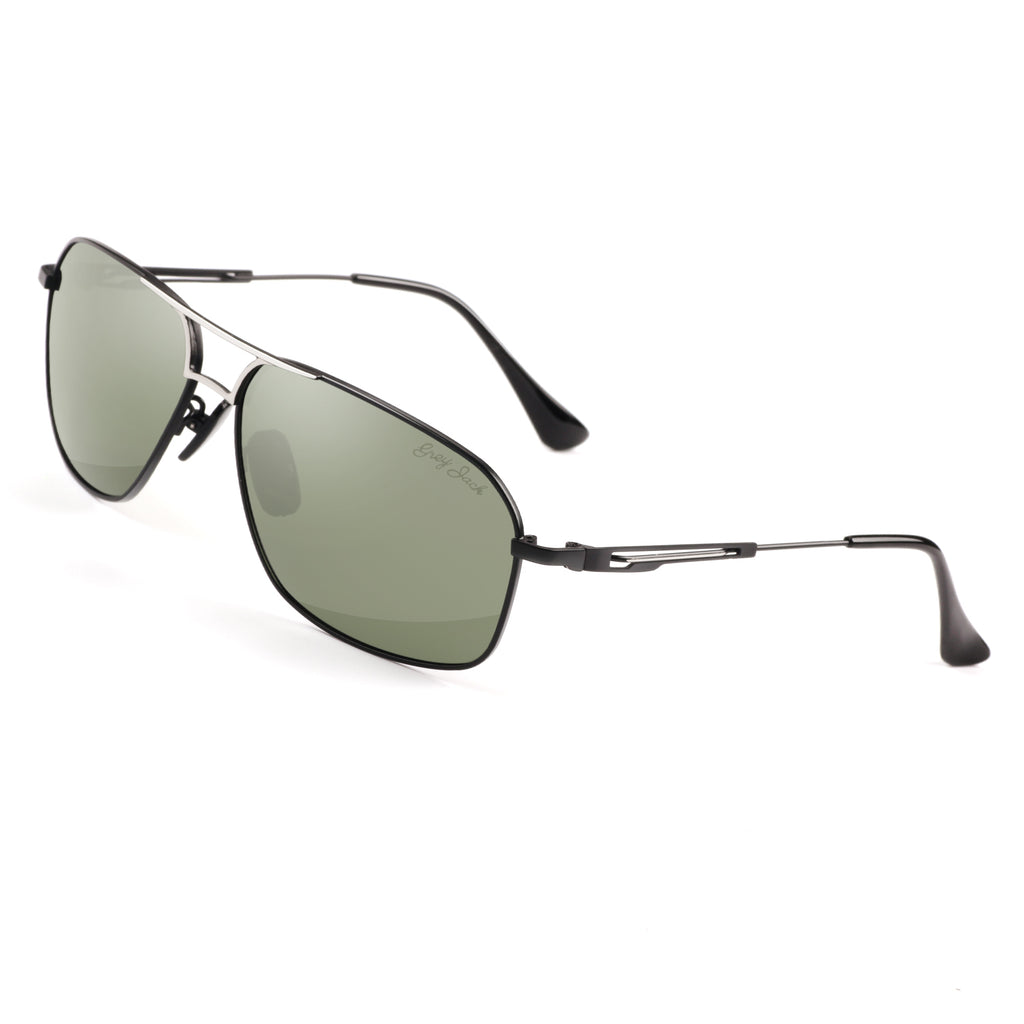 GREY JACK Polarized Large Classic Aviator Sunglasses Rectangular UV protection Lens for Men S1104