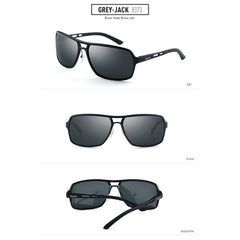 GREY JACK Polarized Sports Sunglasses Al-Mg Alloy Frame for Men Women S8373