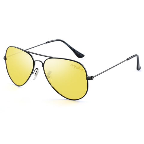 GREY JACK Anti-glare HD Night Driving Glasses Polarized Unisex Aviator Sunglasses