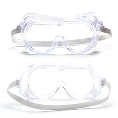 GREY JACK Adjustable Protective Eye Goggle Crystal Clear Eye Protection Splash Goggles Safety Glasses for Virus Protection