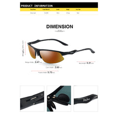GREY JACK Al-Mg lightweight Half-Frame Sports Polarized Sunglasses for Men Women S5035