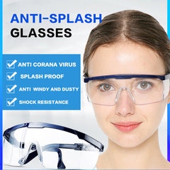 GREY JACK Safety Glasses with Clear Lenses and Non-Slip Grips, UV Protection Splash Goggles
