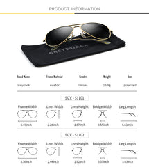 GREY JACK Polarized Classic Aviator Sunglasses Military Style for Men Women S110102