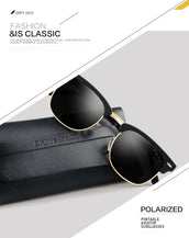 GREY JACK Classic Polarized Clubmaster Mirrored Sunglasses Fashion Eyeglasses for Men Women S1108