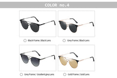 GREY JACK Cateye Round Polarized Clubmaster Sunglasses for Men and Women S1255