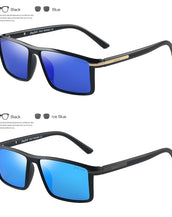 GREY JACK Polarized Rectangular Rimmed Frame Sunglasses for Men Women S1322
