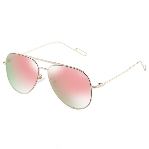 GREY JACK Metal Wire Rim Aviator Style Sunglasses with Gradient Lens for Men and Women S0770