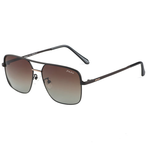 GREY JACK New Fashion Metal Frame Polarized Square Sunglasses for Men and Women S1257