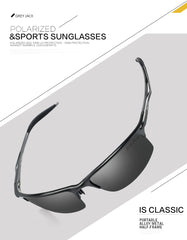 GREY JACK Sports Style Polarized Sunglasses Al-Mg Metal Frame Ultra Light for Unisex S8581