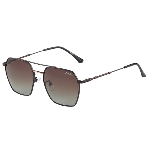GREY JACK Polygon Square Frame Polarized Sunglasses for Men and Women S1264