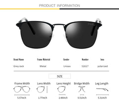 GREY JACK New Classic Clubmaster Half Frame Sunglasses Fashion Eyeglasses for Men Women Ladies S1617