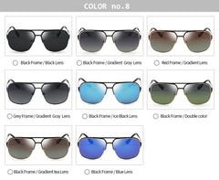 GREY JACK Classic Polarized Square Sunglasses for Men and Women Mirrored Lens S1623