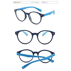 GREY JACK Anti Blue Light Clear Glasses Classic Round Eyewear for Child S8217