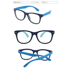 GREY JACK Anti Blue Light Clear Glasses Classic Rectangle Eyewear for Child S886