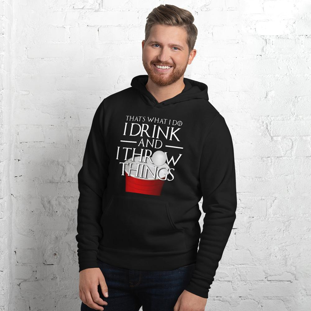 I Drink and I Pong Unisex hoodie