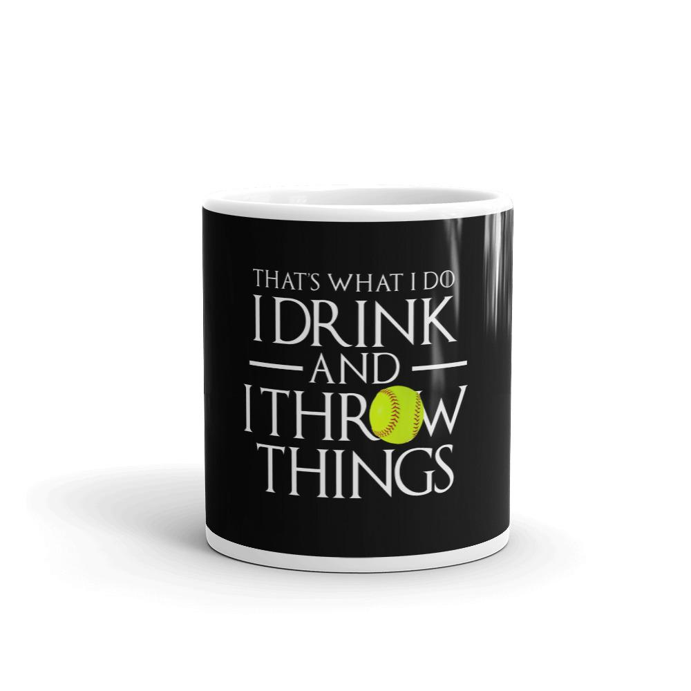 Softball Drink and Throw Things Mug