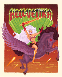 "Hellvetika ""Power of Gayskull"" Print"