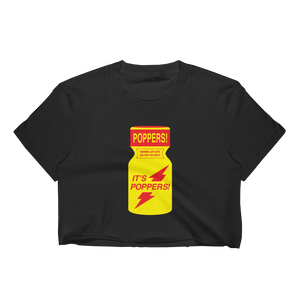 "Basic ""It's Poppers!"" Crop Top"