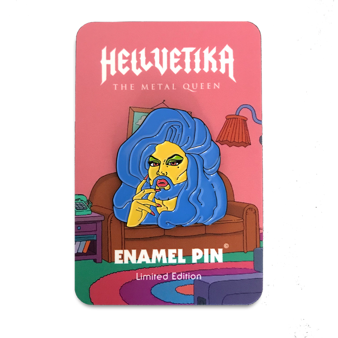 Hellvetika Marge Special Edition Enamel Pin