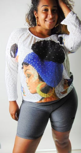 Afro Puff Sweater