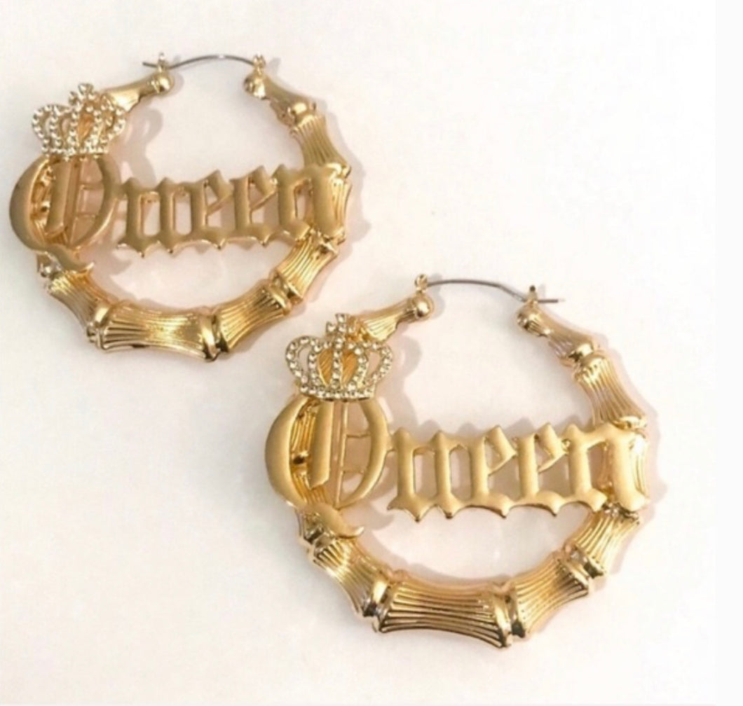 Queen Bamboo Earrings
