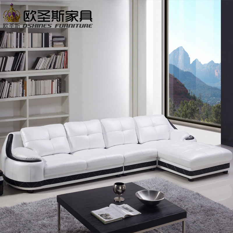 Admirable Modern Mexico Leather Big White Corner Round Sofa Designhod Pdpeps Interior Chair Design Pdpepsorg
