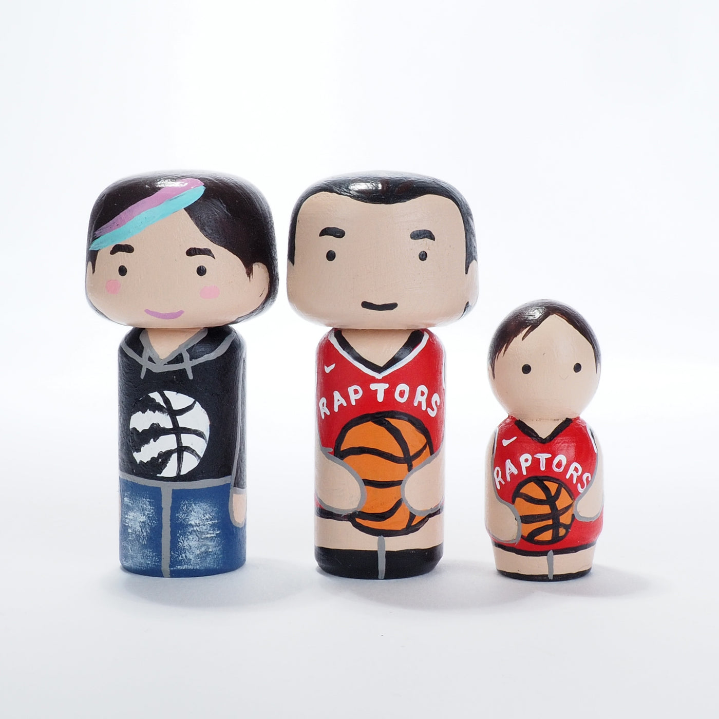 We the North!  Toronto Raptors.  Mini family Portrait with Raptors Jerseys!