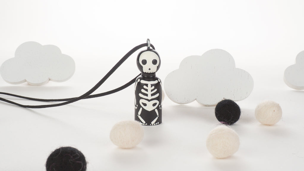 Glow in the dark Peg Doll Necklace