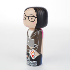 Accountant Kokeshi doll