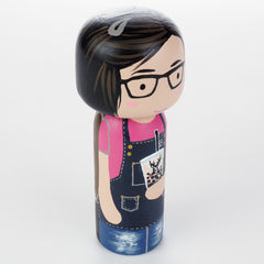 Bubble tea Kokeshi doll