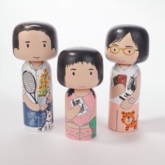 Custom Kokeshi - Family portrait