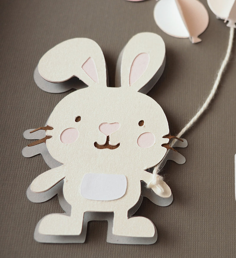 3D Bunny guestbook and decor