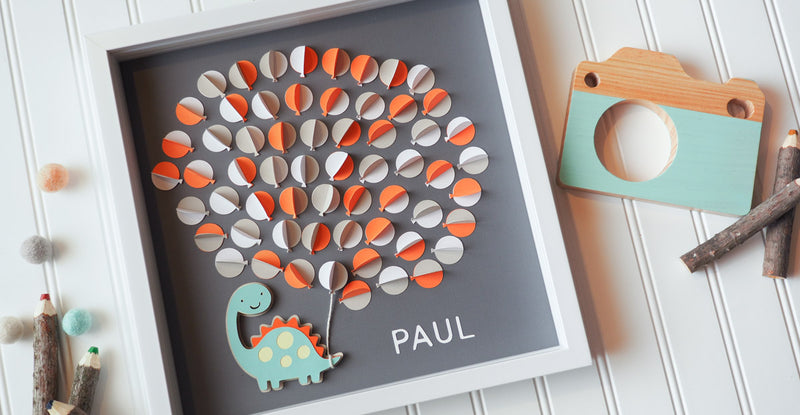 3D Dinosaur guestbook and decor
