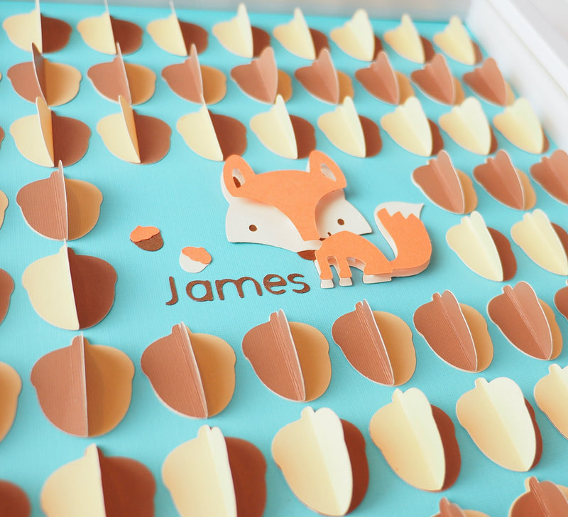 3D Fox guestbook and decor