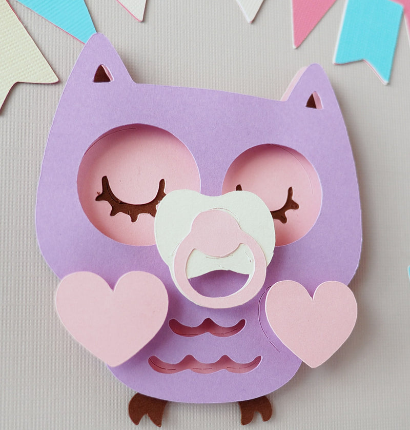 3D Owl guestbook and decor