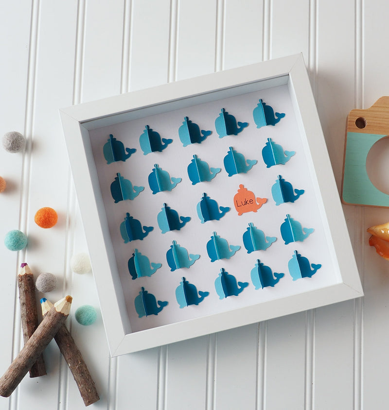 3D Whale guestbook and decor