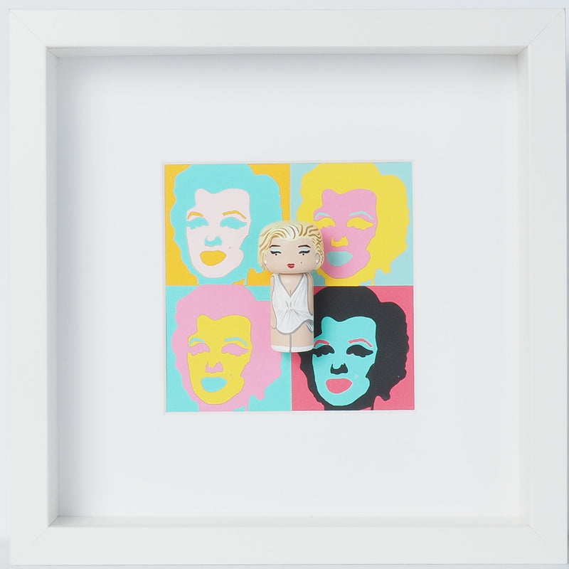 Andy Warhol -Shot Marilyns Mini Kokeshi (Limited Edition)