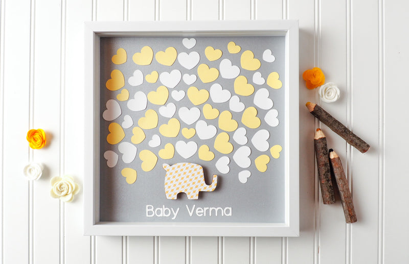 baby shower guestbook alternative - elephant