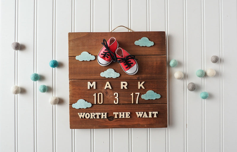 Birth announcement wall art - Boy