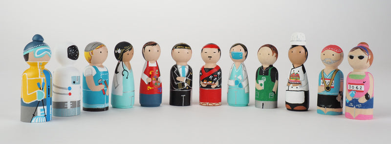 Occupational gift - Astronaut Peg Dolls
