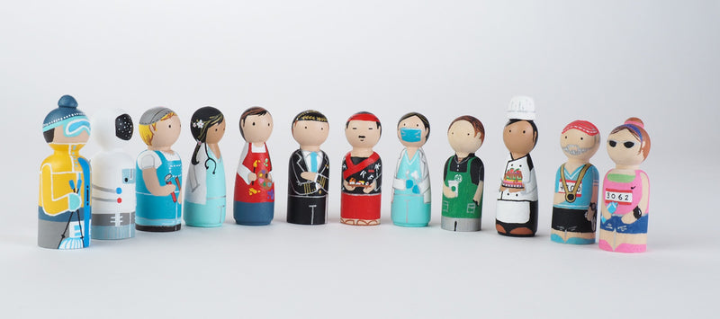 Occupational gift - Pilot Peg Dolls