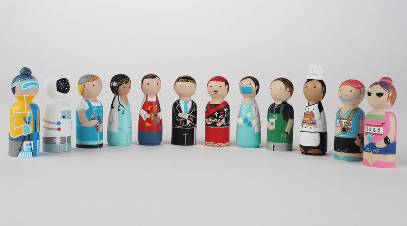 Occupational gift - Doctor Peg Dolls