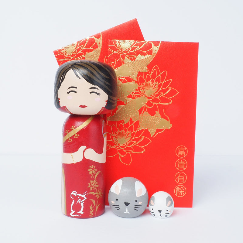 This Chinese New Year is the Year of the Rat.  Introducing our new Year of the Rat Kokeshi dolls, Peg Dolls! Give something unique this new year. Do you know anyone who was born in 1948, 1960, 1972, 1984, 1996, 2008, 2020? They are hand-painted with love.