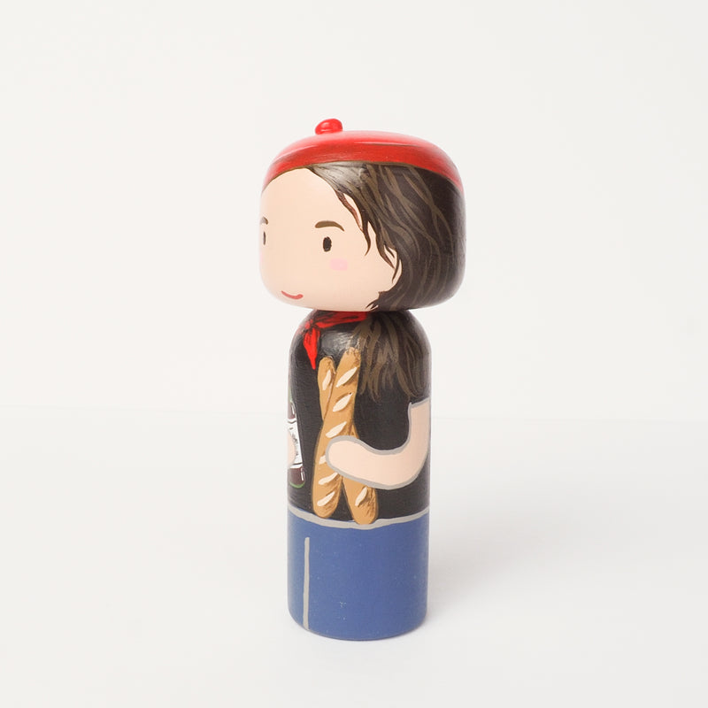 Family and Friends Portrait on Kokeshi and Peg Dolls