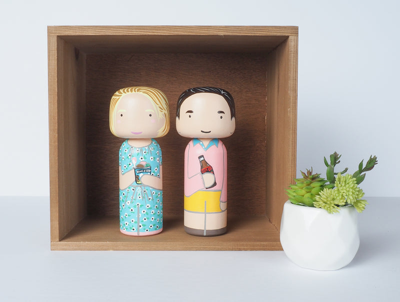 Anniversary Gift - Customized Family Portrait Kokeshi Dolls