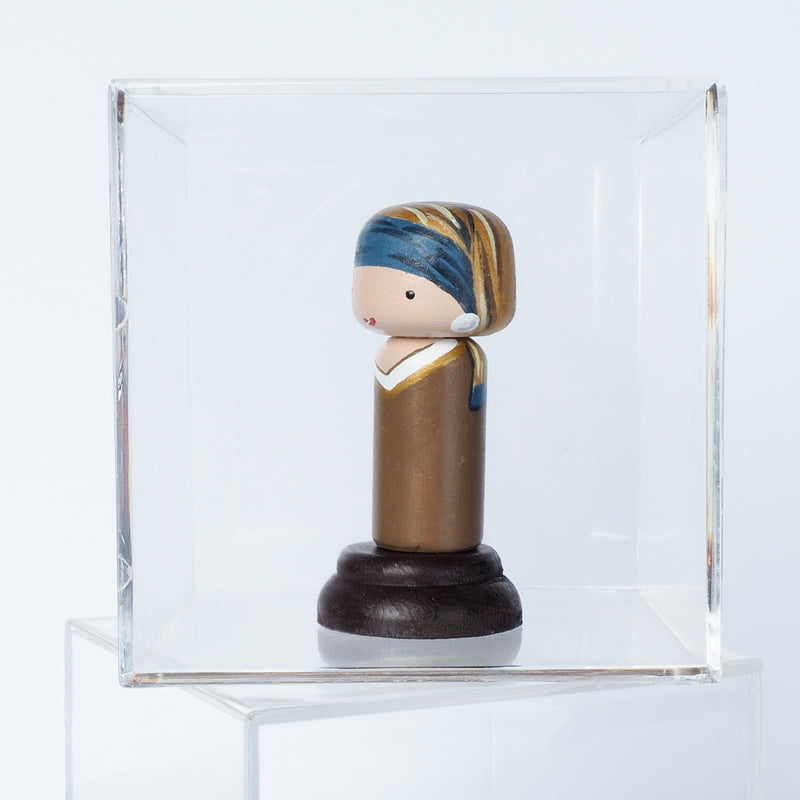 Girl with a Pearl Earring - Mini Kokeshi - Johannes Vermeer (Limited Edition)